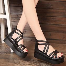 S011D - Giày sandal đế xuồng phong cách Hàn Quốc