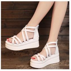hỗ trợ phí ship- S011T - Giày sandal đế xuồng phong cách Hàn Quốc