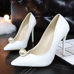 Giày cao gót ngọc trai nữ đẹp sang trọng 2586