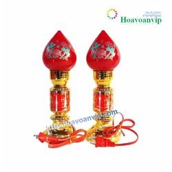 Cặp Đèn Thờ Cúng Búp Đào - V006