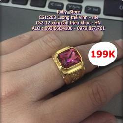 NHẫn Nam Khắc Rồng Mạ vang 18K