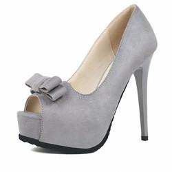 Giày cao gót 14cm da mềm hở mũi đẹp sang trọng 628
