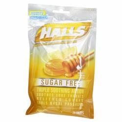 Kẹo ngậm trị ho và viêm họng Halls - Honey-Lemon, 25 viên