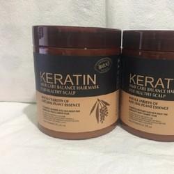 Kem ủ tóc Keratin phục hồi tóc hư tổn 1000gr