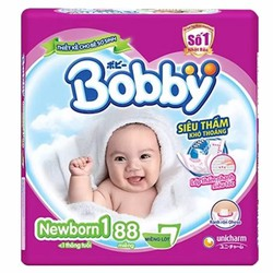 Tã bỉm Bobby Newborn 1 - 88 miếng
