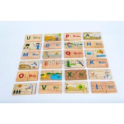 Bộ tìm 24 cặp phù hợp   đồ chơi trẻ em bằng gỗ an toàn