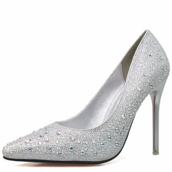 Giày cao gót đính đá mũi nhọn đẹp thời trang 305