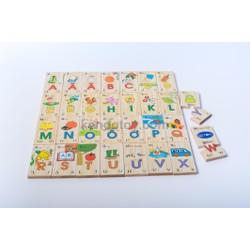 Bảng chữ cái Tiếng Việt xếp hình tìm cặp | đồ chơi gỗ