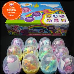 Bộ trứng mika chứa 12 chú Pony xinh yêu