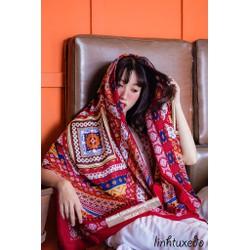 khăn choàng cotton thổ cẩm