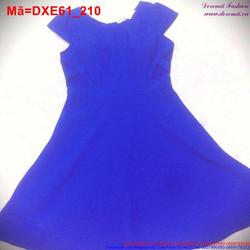 Đầm xòe tay con màu xanh đáng yêu DXE61