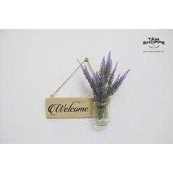 Bảng welcome hủ thủy tinh cắm hoa Nhỏ