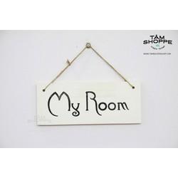 Bảng treo cửa chữ MY ROOM