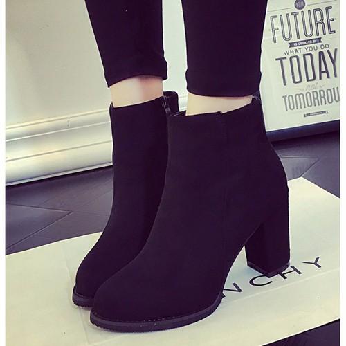 Boot nữ cổ ngắn đế vuông da lộn - 4131130 , 4710223 , 15_4710223 , 435000 , Boot-nu-co-ngan-de-vuong-da-lon-15_4710223 , sendo.vn , Boot nữ cổ ngắn đế vuông da lộn