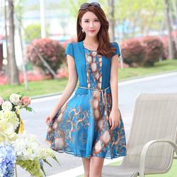 Hàng nhập: Đầm xòe cách điệu sang trọng quyến rũ NX083