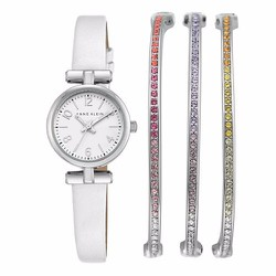 Set đồng hồ Anne Klein Leather Strap Watch  Bracelet
