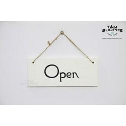 Bảng treo cửa OPen  Closed trắng đen đơn giản