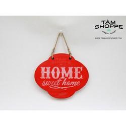 Bảng treo Home Sweet Home Đỏ