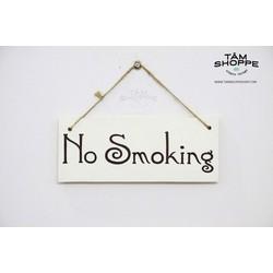 Bảng treo cửa chữ No Smoking