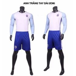Bộ đồ đá banh tay dài đội tuyển Anh -Trắng