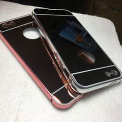 Apple iPhone 5 5S SE-Ốp lưng tráng gương viền kim loại cho điện thoại