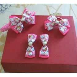 Set cài tóc Hello Kitty màu hồng