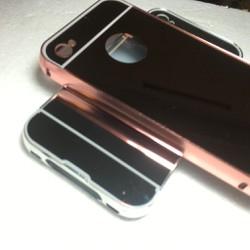 Apple iPhone 4 4S - Ốp lưng tráng gương viền kim loại cho điện thoại