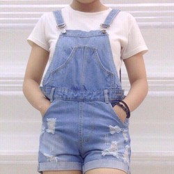 Yếm jean short