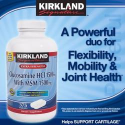 KIRKLAND - GLUCOSAMINE HCL 1500mg - 375 VIÊN