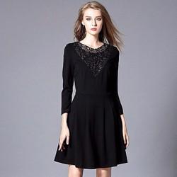 Đầm xòe phối ren thời trang cao cấp 2016 - #7251
