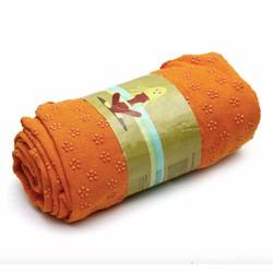 Khăn trải thảm yoga Ribobi có kèm túi đựng - Cam