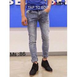 Quần jeans nam rách xước phong cách
