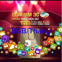 Sim 4G 3G Viettel nguyên năm không cần nạp tiền