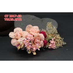 Hoa cài tóc cô dâu