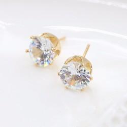 Bông tai kim cương xinh xắn, quý phái BT34 - Màu vàng