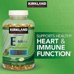 Kirkland Signature™ Vitamin E 400 IU, 500 viên