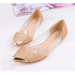 Giày búp bê BalletStar kim tuyến vàng còn 1 đôi 38 form nhỏ
