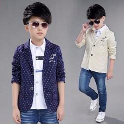 Áo vest chấm bi cho bé trai từ 4 đến 12 tuổi - RD63504