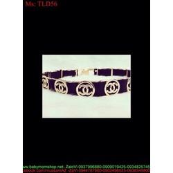 Dây nịt nữ bản nhỏ logo CN sành điệu nổi bật TLD56