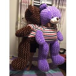 Gấu bông Teddy 1m4 - Gấu Teddy m4 giá rẻ - Màu Tím
