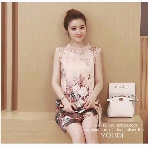 Đầm hoa phối ren siêu sang - 24092160