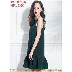 Đầm ôm dự tiệc 2 dây kiểu cổ yếm lai bèo xinh đẹp DOC362