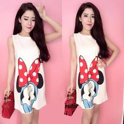 Đầm suông in họa tiết chuột Mickey