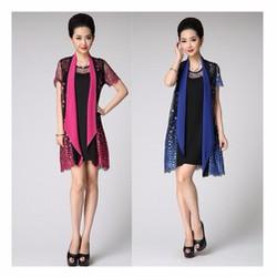Đầm kèm áo khoác DAK15 - size M~3XL HÀNG NHẬP