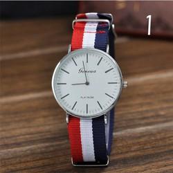Đồng hồ Geneva dây vải viền trắng Số 1