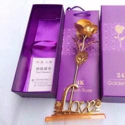 hoa hong ma vàng 24k