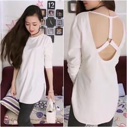 Áo cotton form dài hàng quảng châu