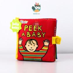 Sách vải Peek a baby- Jollybaby