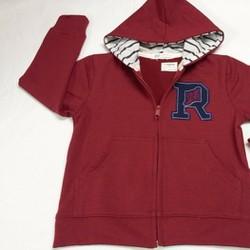 Áo khoác chữ R màu đỏ đô dành cho bé