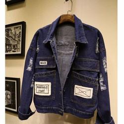 áo khoác jeans rách artist study Mã: AO2396